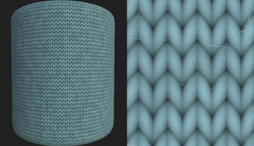 サブスタンスデザイナーでニット生地のウール素材を1から作る方法
