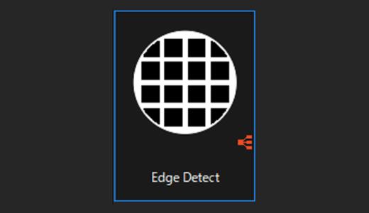 Edge Detect 縁取った画像を作成してくれるノード